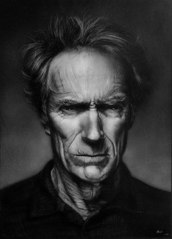 Clint Eastwood por miualpainter
